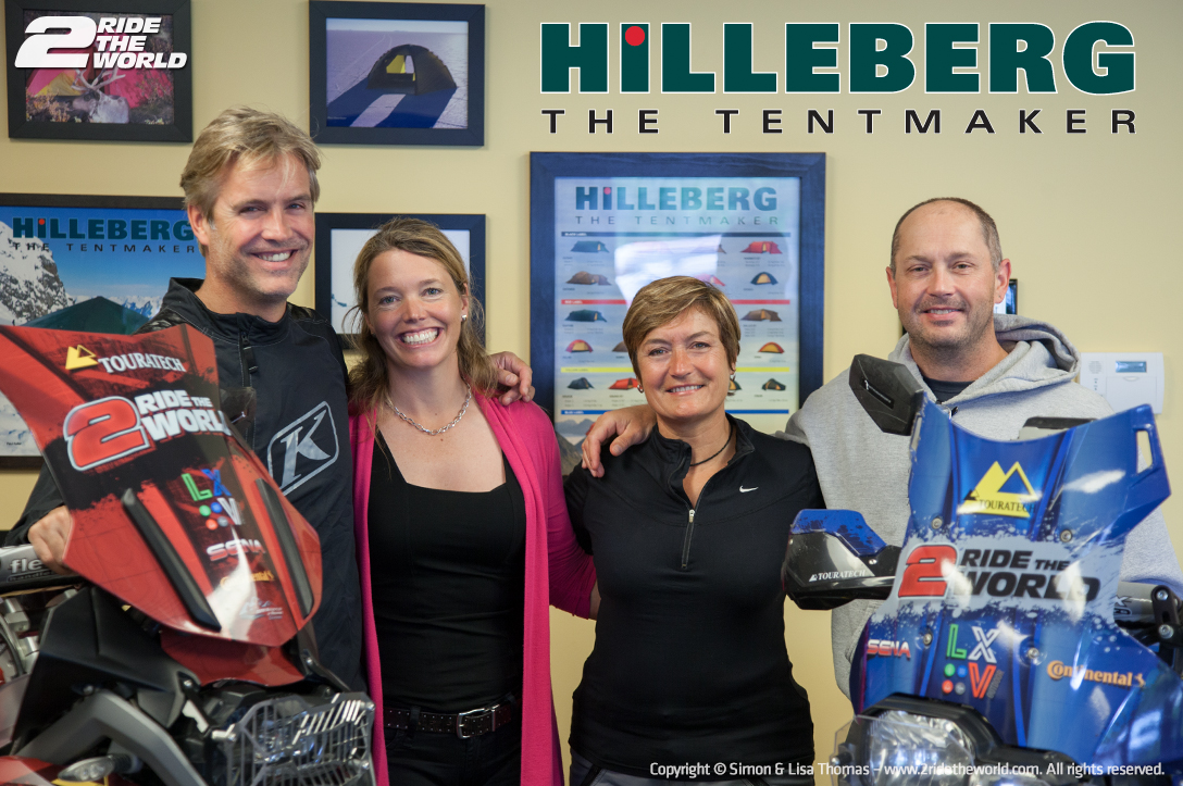 Hilleberg - with our good friends Hilleberg CEO Petra Hilleberg and Stuart Craig