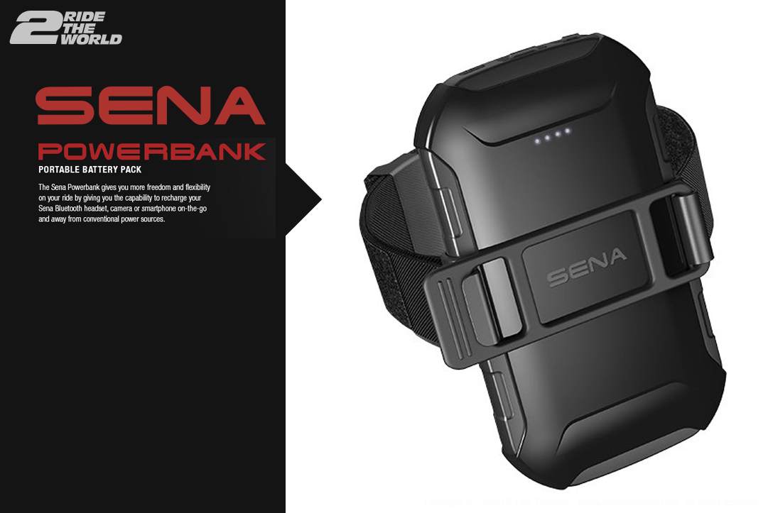The New SENA Powerbank. Portable power on the go.