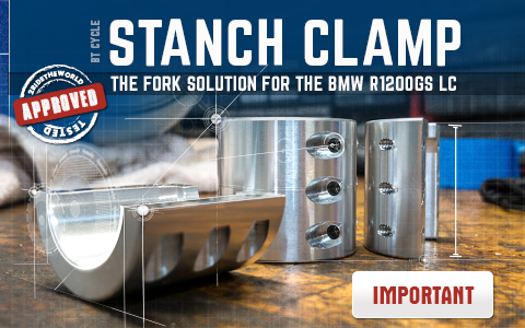 STANCH CLAMP: R1200 Fork Fix